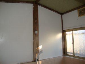 浴室の壁にカビが発生する