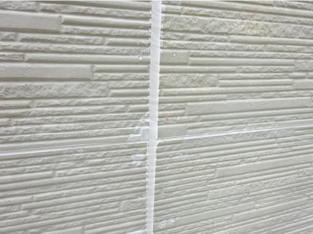シーリング処理をした外壁