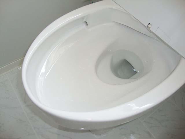 縁裏の無いトイレ